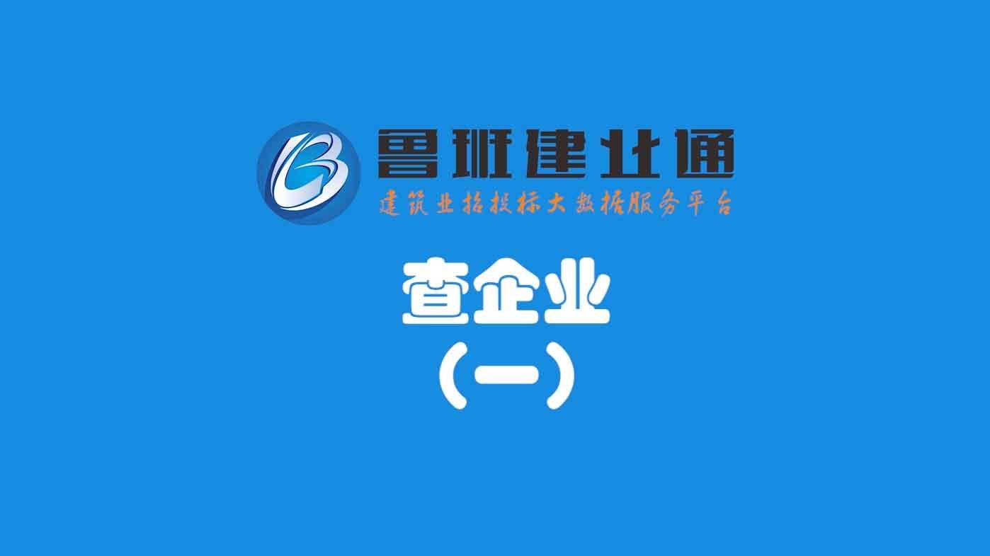 06.鲁班乐标-查企业(一)